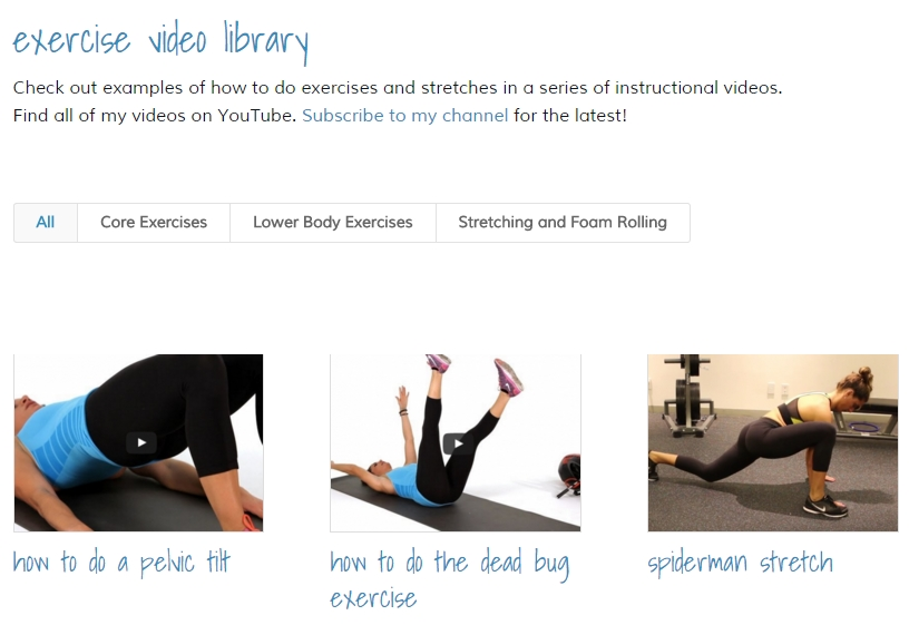 Body by Amanda NYC Exercise Video Library by Josh Okun Digital