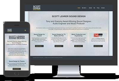 Scott Lehrer Sound Design website